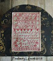 M Walton 1877 Redwork Marking Sampler PATTERN