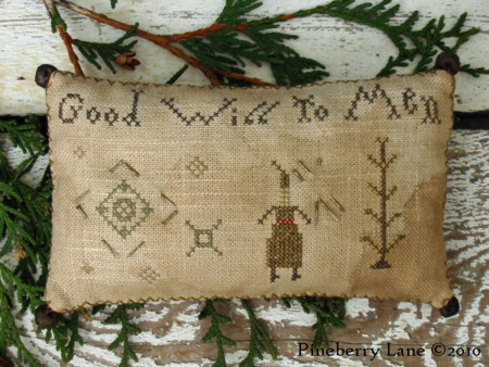 Peace on Earth Good Will to Men Pinkeeps PATTERN