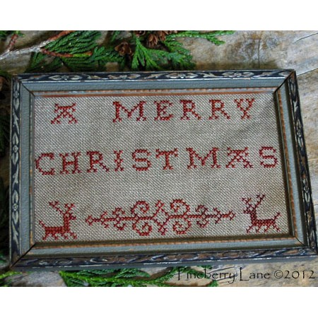 A Merry Christmas Redwork Sampler