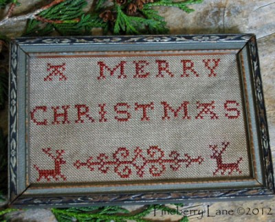 A Merry Christmas Redwork Sampler E-pattern