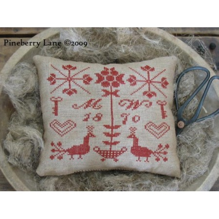 Mehitable Wright's Redwork Sampler