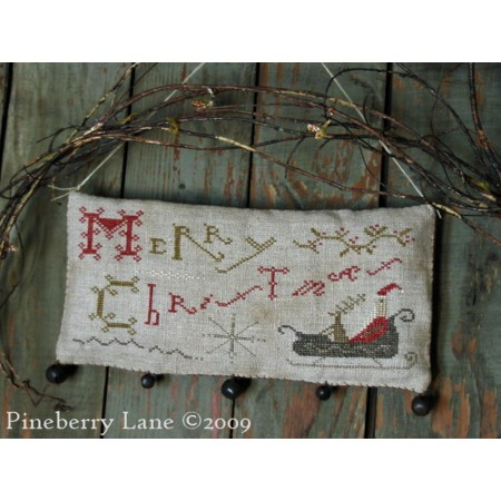 Merry Christmas Hanging Sampler E-pattern