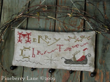 Merry Christmas Hanging Sampler