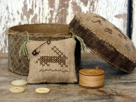 Two Hares Marking Sampler Sewing Box E-pattern