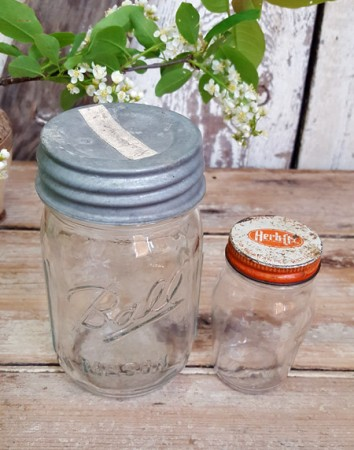 Pair of Old Glass Jars