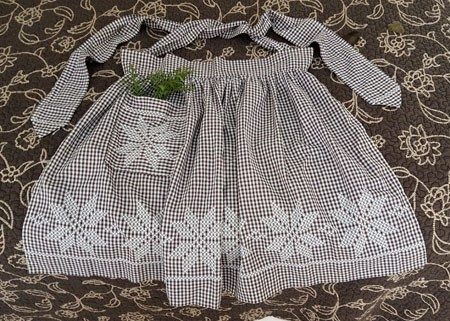 Vintage Embroidered Apron