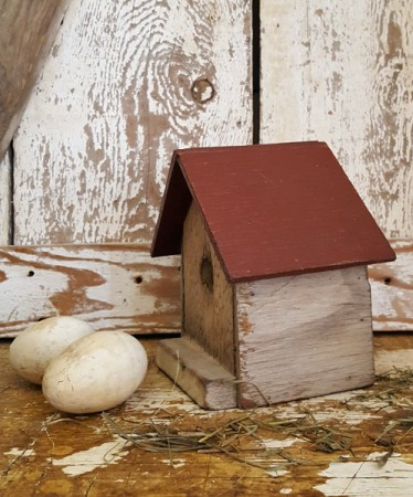 Little Red-Roofed Birdhouse
