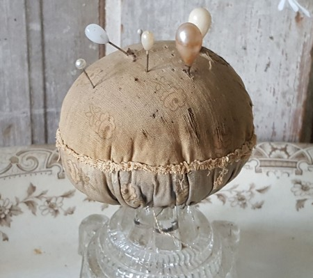 Old Calico Make-do Pincushion - SOLD