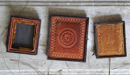 Lot of 3 Daguerreotype Half Cases - SOLD
