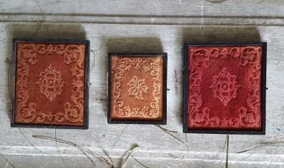 Lot of 3 Daguerreotype Case Covers