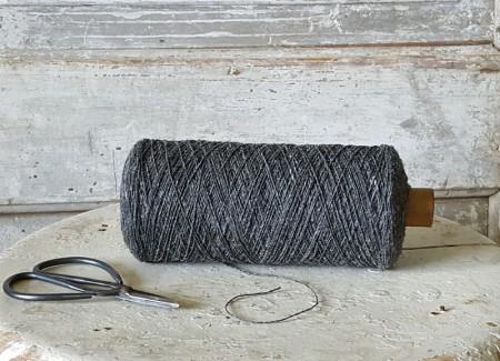 Large Spool of Gray Wool Thread
