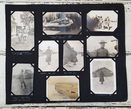 Old Photo Book Pages 1916-18 WWI