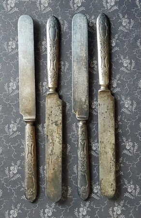 Lovely Old Silverplate Knives - Rogers 1881