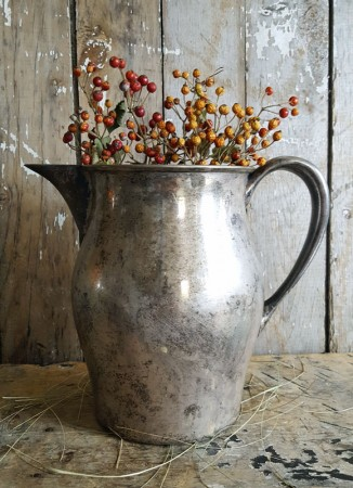 Tarnished Silverplate Pitcher