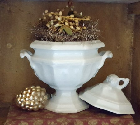 Tiny Red Cliff Ironstone Tureen