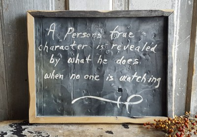 True Character Quote Framed Art