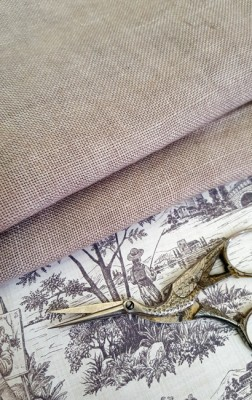 30 Count Confederate Grey Weeks Dye Works Linen 13x18