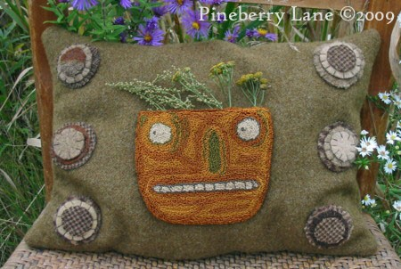 Harvest Gatherings Pumpkin Pillow E-pattern