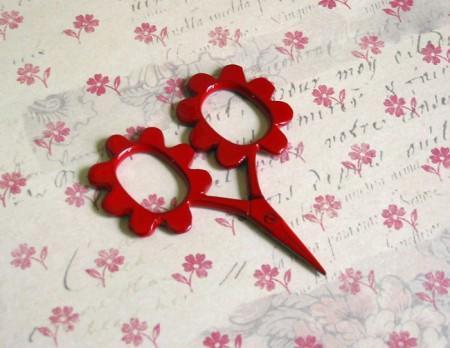 Flower Power Scissors - Red