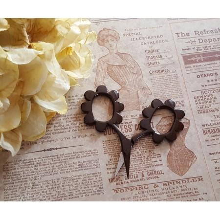 Flower Power Scissors - Chocolate