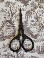 Tudor Rose Scissors - Matte Black