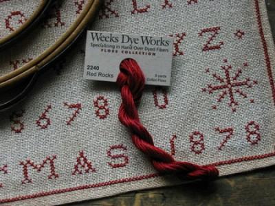 Christmas 1878 Marking Sampler Floss Pack